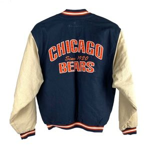 VTG CHAMPION Chicago Bears Spellout Retro Jacket L